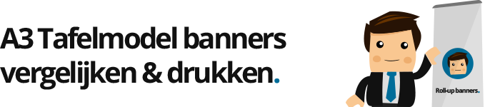 Roll up banner A3 drukken