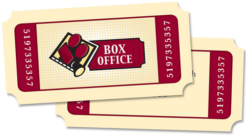 box office tickets visitekaartje